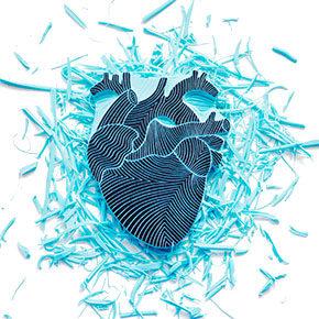 Ana Sola carvado de sellos corazón