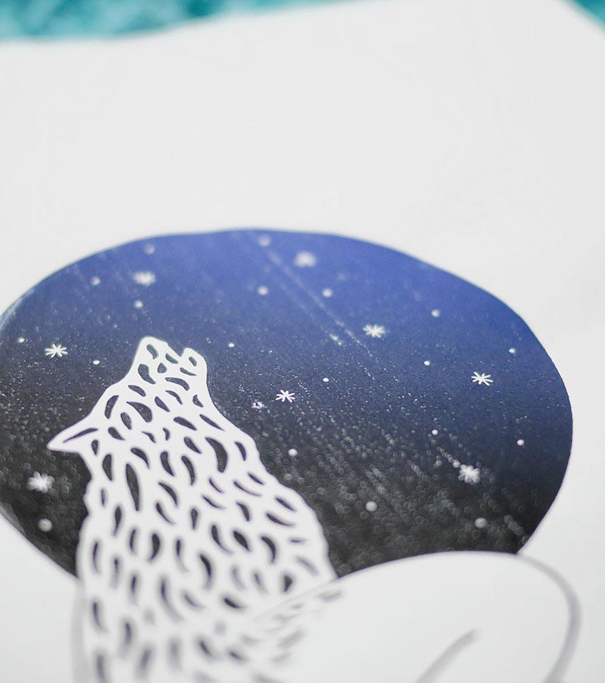 Ana Sola lámina lobo detalle