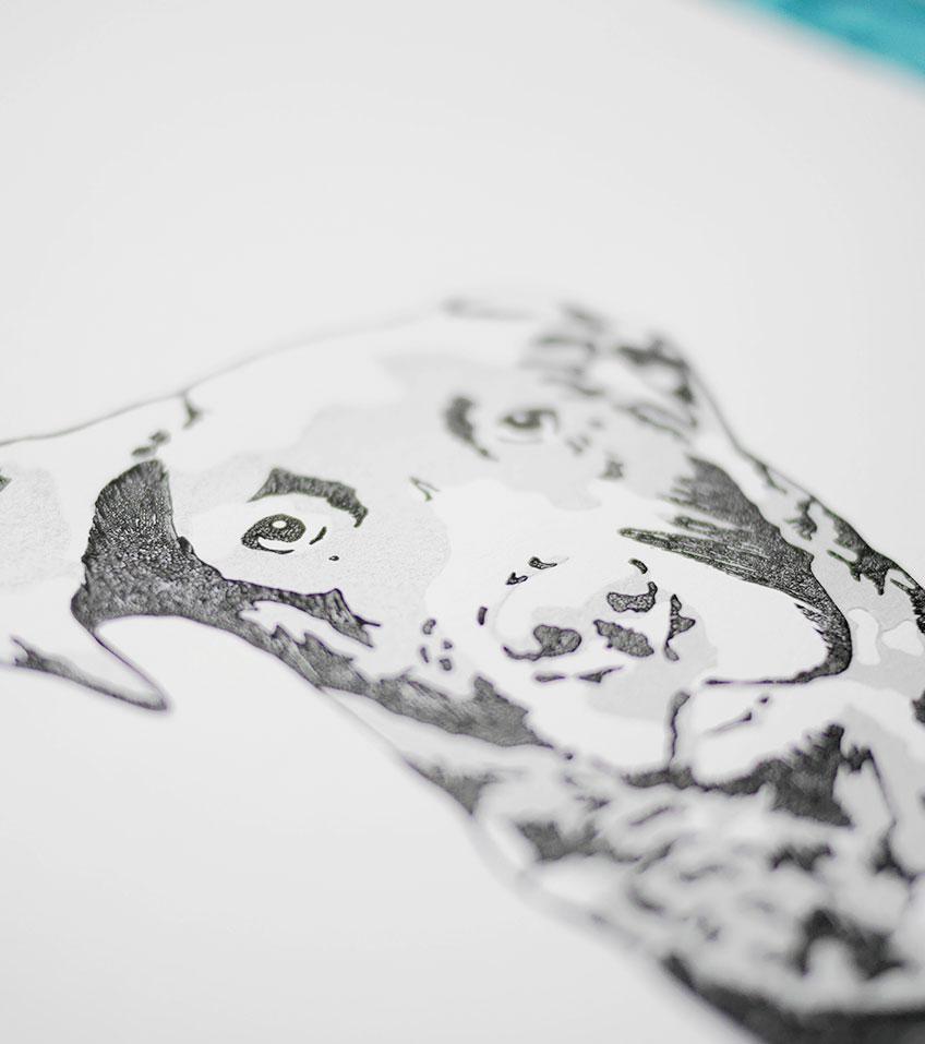 Ana Sola lámina perro detalle 2