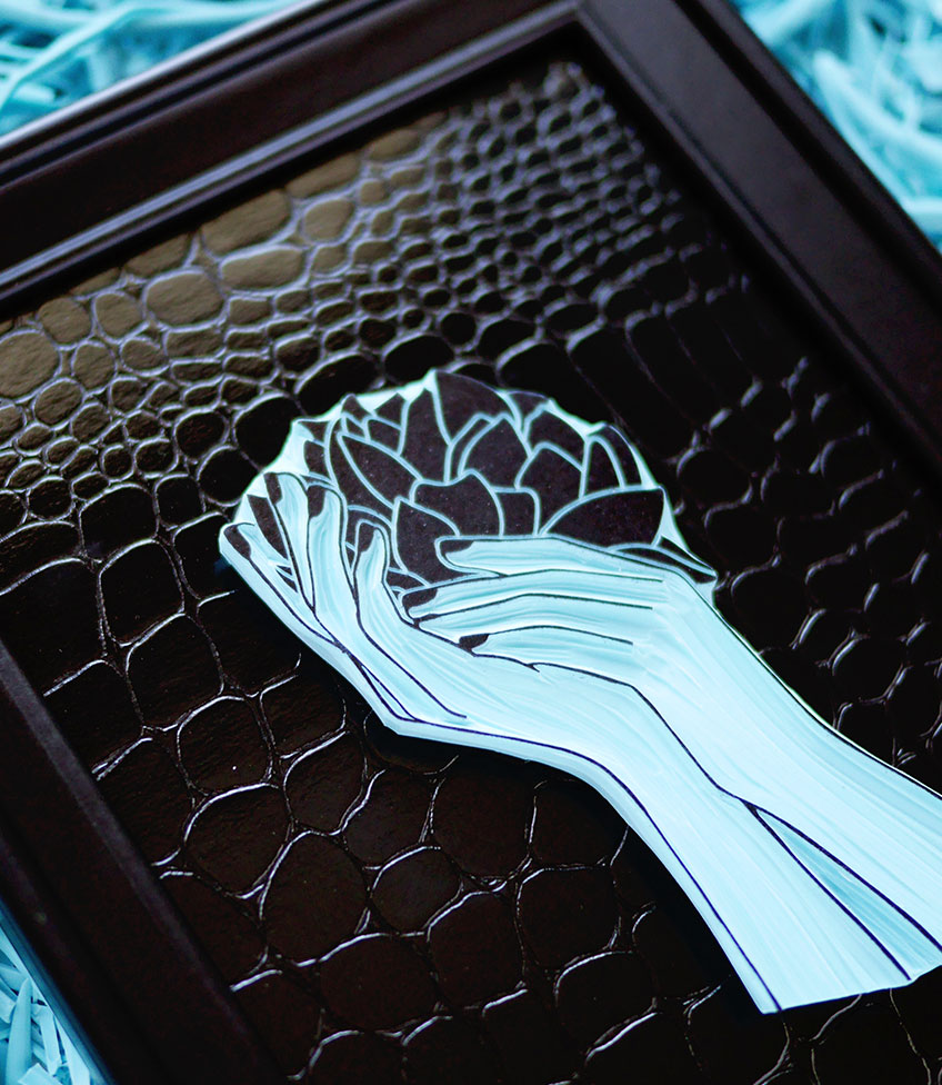 Sello-carvado-flor-marco-Ana-Sola