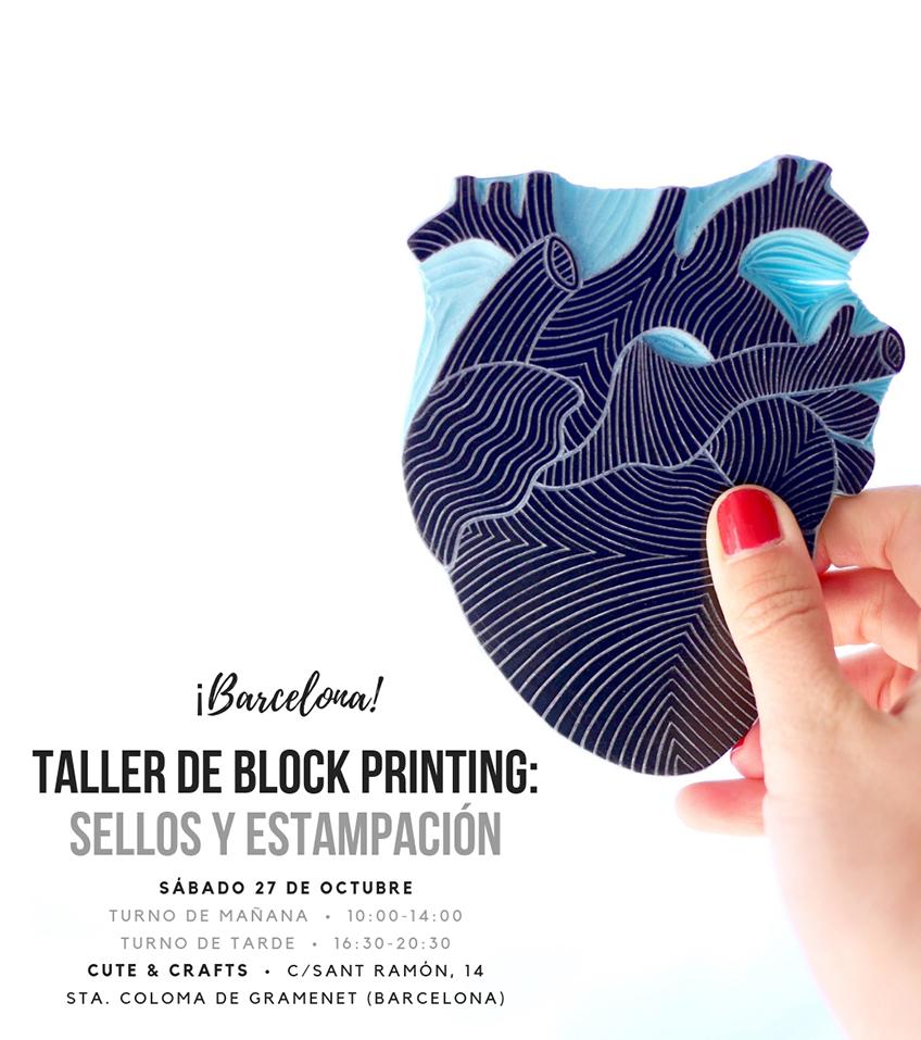 Taller Barcelona carvado de sellos Ana Sola