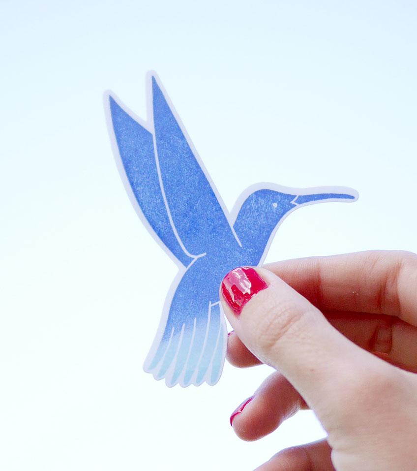 Pegatina-colibri-ana-sola
