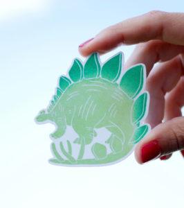 Pegatina-dinosaurio-verde-ana-sola