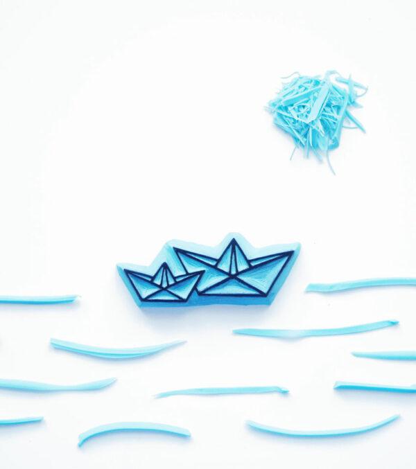 barcos-ana-sola-carvado-de-sellos-personalizados-de-goma