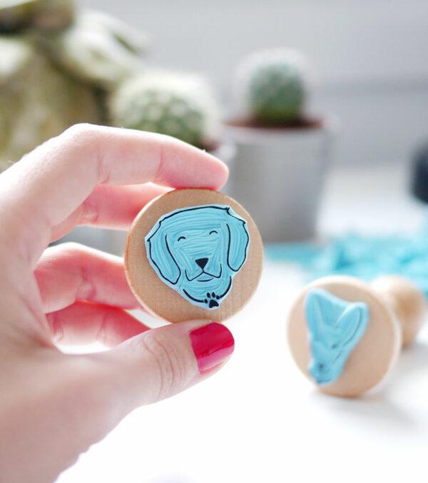 perro-ana-sola-carvado-de-sellos-personalizados-de-goma