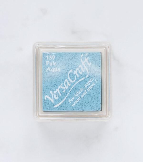tinta-versacraft-mini-pale-aqua-aguamarina-pálida-materiales-carvado-sellos-ana-sola