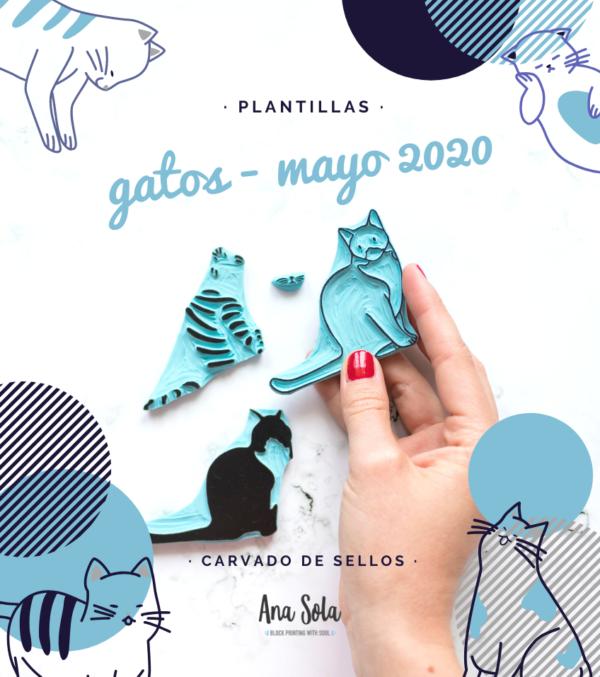ana-sola-carvado-de-sellos-plantillas-gatos-paso-a-paso-tutorial