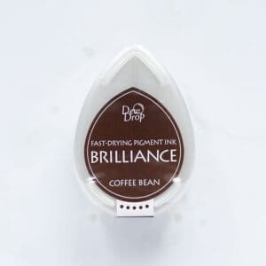 tinta-brilliance-mini-coffee-bean-grano-de-cafe-materiales-carvado-sellos-ana-sola