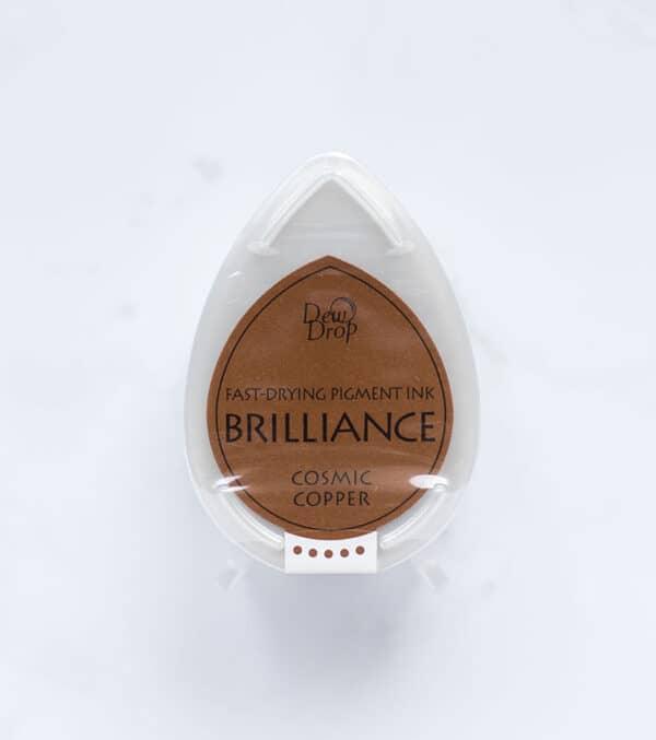 tinta-brilliance-mini-cosmic-copper-cobre-cosmico-materiales-carvado-sellos-ana-sola