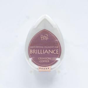 tinta-brilliance-mini-crimson-copper-cobre-carmesi-materiales-carvado-sellos-ana-sola