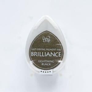 tinta-brilliance-mini-lightning-black-negro-relampago-materiales-carvado-sellos-ana-sola