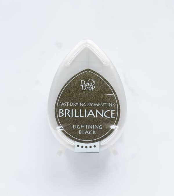 tinta-brilliance-mini-lightning-black-negro-relampago-materiales-carvado-sellos-ana-sola