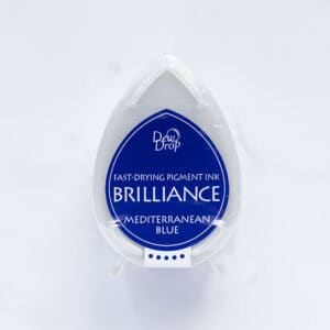 tinta-brilliance-mini-mediterranean-blue-azul-mediterraneo-materiales-carvado-sellos-ana-sola