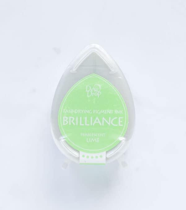 tinta-brilliance-mini-pearlescent-lime-verde-lima-perlado-materiales-carvado-sellos-ana-sola