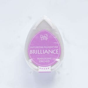 tinta-brilliance-mini-pearlescent-orchid-orquídea-materiales-carvado-sellos-ana-sola