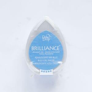 tinta-brilliance-mini-pearlescent-sky-blue-azul-cielo-materiales-carvado-sellos-ana-sola