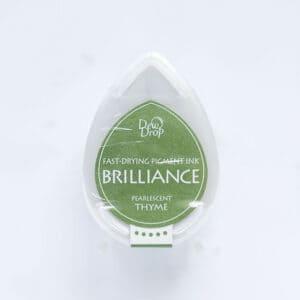 tinta-brilliance-mini-pearlescent-thyme-tomillo-perlado-materiales-carvado-sellos-ana-sola
