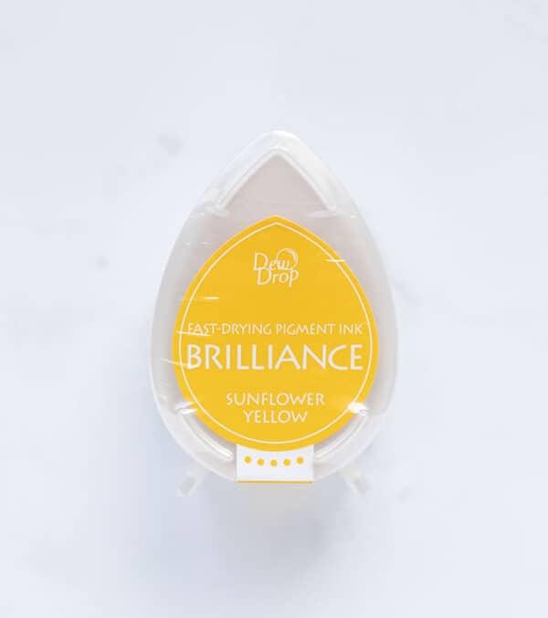 tinta-brilliance-mini-sunflower-yellow-amarillo-girasol-materiales-carvado-sellos-ana-sola