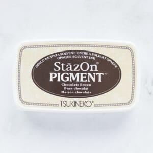 tinta-stazOn-pigment-chocolate-brown-marron-chocolate-materiales-carvado-sellos-ana-sola