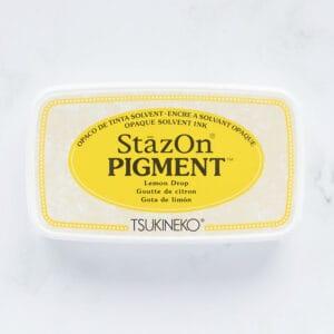 tinta-stazOn-pigment-lemon-drop-gota-de-limon-materiales-carvado-sellos-ana-sola