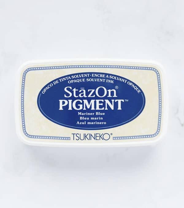 tinta-stazOn-pigment-mariner-blue-azul-marinero-materiales-carvado-sellos-ana-sola
