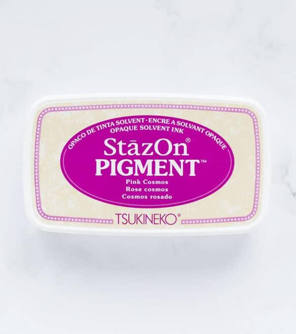 tinta-stazOn-pigment-pink-cosmos-rosado-materiales-carvado-sellos-ana-sola