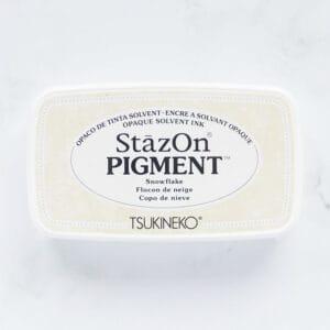 tinta-stazOn-pigment-snowflake-copo-de-nieve-materiales-carvado-sellos-ana-sola
